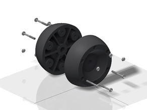 Replacement wheel for Bosch Indego lawn mover
