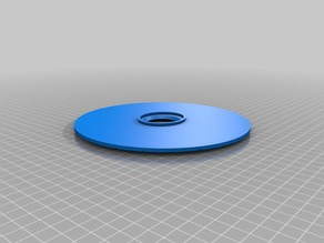 45rpm blank record disc made on tinkercad aceatate