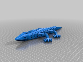 Flexible ball lizard (entirely printed with hinge)