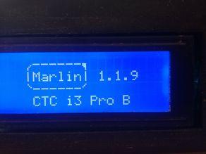 Marlin 1.1.9 on CTC prusa i3 DIY (GT2560 rev a)