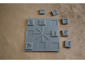 D&D TOA: Tomb of Annihilation Trickster God Puzzle Plate (Area 3)