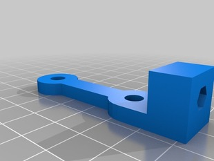 Adjustable Z endstop for Improved X ends for Prusa with clamped rods