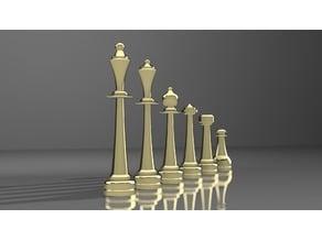 Elongated Chess Set