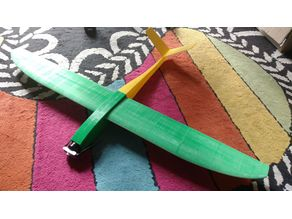 Pattaya3D - Full 3D printed RC sailplane/glider (aliante) - original design by Franck Aguerre