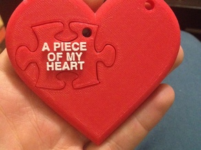 Piece of my heart keychain set