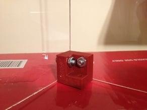 Corner brace for acrylic/plexiglass boxes or hoods