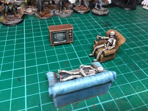 Old Television 32mm scale FWW