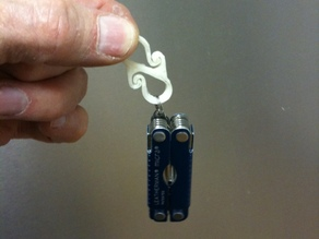 Small S-hook Clip, double ended Carabiner style