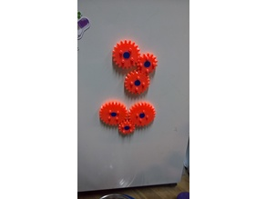 Refrigerator Magnet Gear Spinners