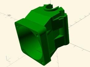 E3D V6 Velleman K8200 & 3Drag extruder holder including 40mm fan-mount