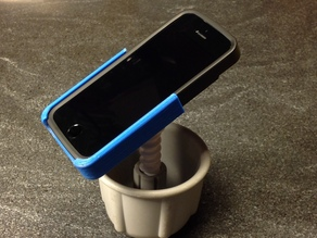 iPhone mount - thin iPhone case to Belkin TuneDok adapter