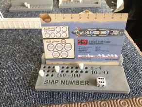 Cruel seas card holder and marker