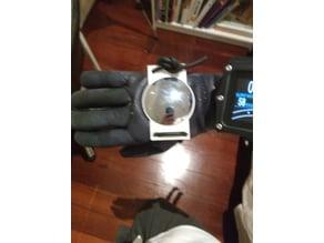 Scuba handmount rear view mirror