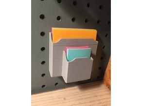 Peg Board Post-it Holder