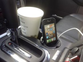 Cup Holder Insert Phone Stand V4