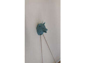 Wolf bust wall hook cover