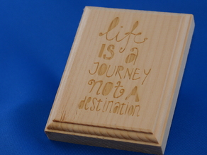 Engraved Quote