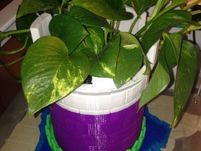 Castle flower pot plus moat splash water ctray