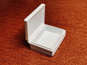 Parametric Hinged Box Plus, printable in one piece.
