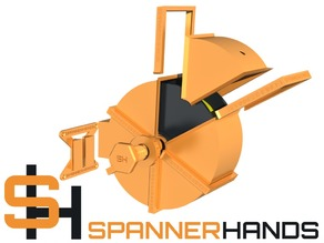 SPANNERHANDS Spool System Wall Mounted Spool Holder & Dust Cover