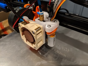 Fan Adapter for Mosquito Hotend - 25mm to 40mm