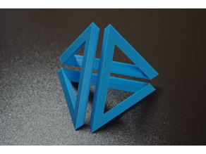 Infinity tetrahedron (pyramid) - easy print, no support