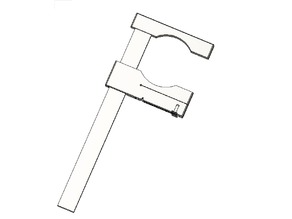 F Clamp with cam lock for paint mixing stick