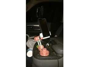 Car Cup Cell Phone Holder With Self Articulating Arm
