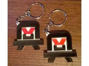 Angryman Keyring / Keychain / Keyfob / Bag Charm