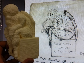 Cthulhu Statuette (with Mysterious Writings Added)