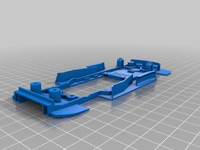 Slot car chassis for CARRERA BMW M3 DTM 1:32