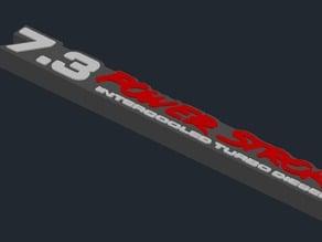 3D 7.3 Powerstroke Emblem