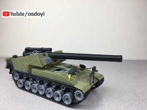 3D Printing T92 Self-propelled Artillery(Challenge your limits)