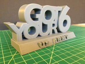Veterans Day Sculpture - Got Your 6