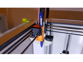 Pen mount for the Mark2 dual extrusion system.