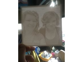 My sister and niece - lithophane