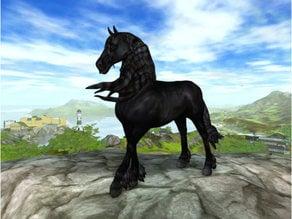 Friesian Horse Silhouette