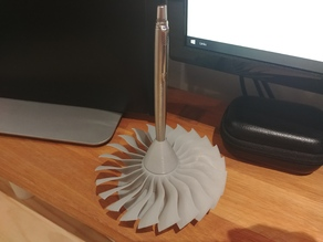 Spinning Jet Engine Fan Pen Holder