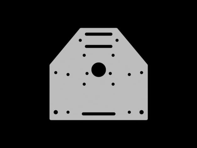 Shapeoko nema 23 motor mount by droneme thingiverse for Nema 23 motor mount plate