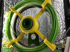Bigger capacity sample filament spool for small build plates