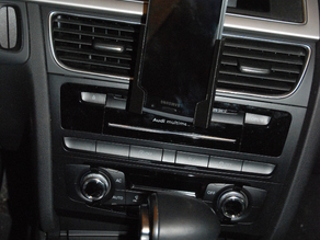 Mobile phone support for car using CD slot