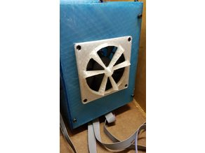 80mm Fan Grill - no need to unscrew