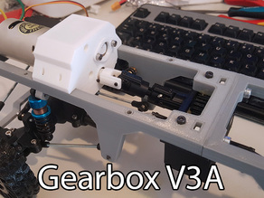3D printed RC truck V3: Gearbox V3A