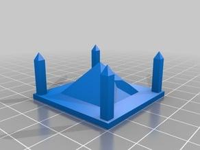 Pyramid and Four Obelisks