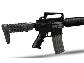 Airsoft stock for M4/AR15 - 2