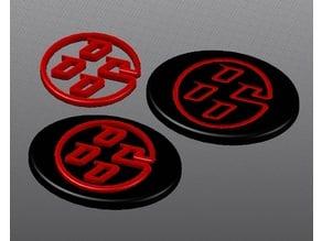 Toyota GT86 steering Wheel Emblem (revised)