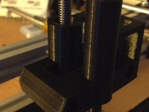 RepRap X-ends for Misumi leadscrews and Igus bushings