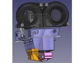 "Protohead V7 ""Zeus"" - E3D v6 Full + E3D Titan for FABtotum"