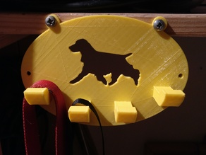 Leash holder with Cocker silhouette