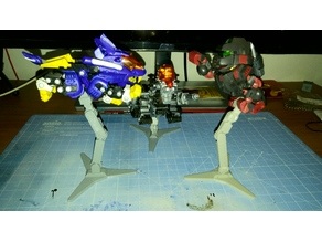 Zoids (HMM and D-style) stand adapter